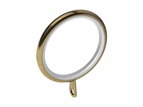 Swish Elements 35mm Metal Curtain Rings - Antique Brass